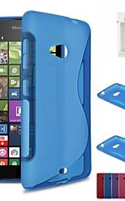 kemile s de TPU suave gel de la piel del caucho flexible de la contraportada para microsoft nokia Lumia 535 (colores surtidos)