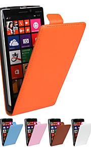 color sólido genuina piel de vacuno de la PU de la carpeta del tirón magnético para Nokia Lumia 930 N930 (colores surtidos)