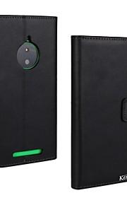 kemile soporte del caso de cuero genuino magnético para Nokia Lumia 830 N830 (colores surtidos)