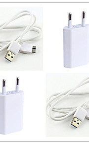 spina eu micro usb abs kit caricabatterie per Samsung note3 / 4 e s5
