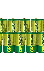 gp 1.5v d-type koolstof batterij (10st)