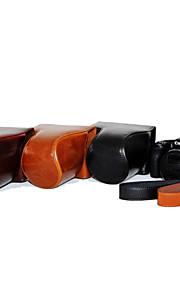 dengpin pu óleo da pele de couro tampa da câmera destacável saco caso para Canon PowerShot hs sx530 hs sx520 (cores sortidas)