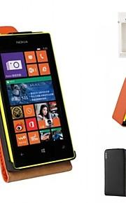 kemile nueva cubierta del caso del tirón del cuero genuino de la llegada para Nokia Lumia 520 (colores surtidos)