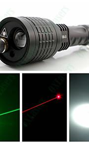 LED Lommelygter / Lommelygter / Lasere Laser / LED 1 Tilstand 400 Lumens Justerbart Fokus Andre 18650 / AAACamping/Vandring/Grotte