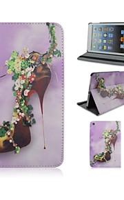 7.9 tommer høj hæle mønster pu læderetui med stativ og pen til iPad mini 1/2/3