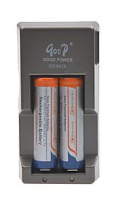 glare zaklamp batterijen batterijlader voor 18650 oplaadbare Li-ion batterij (inbegrepen 2x1800mah 3.7v batterijen)