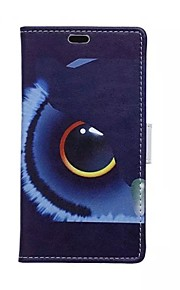 águila tarjeta de patrones oculares billetera de cuero de la PU caso de cuerpo completo para el deseo htc 826