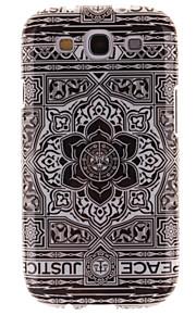 grande tpu disegno fiore nero IMD copertina morbida per la galassia s3 i9300