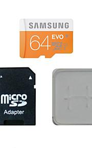 64gb class10 40m / s cartão original samsung tf memória e do cartão de memória e caixa de adaptador do cartão de memória