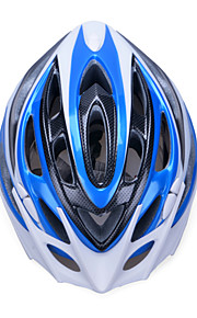 Unisex Fashion and High-Breathability PC + EPP Bicycle Helmet With Detachable Sunvisor(20 Vents) - Blue + Silver