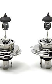 TIROL 2pcs Auto Headlight Bulbs Headlamp Bulbs Halogen H4 12V 60/55W Super White 3000K