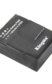 Kingma ahdbt-302 1180mah Li-polymer-batteri för gopro3 / gopro3 + och ahdbt-201/301 - svart