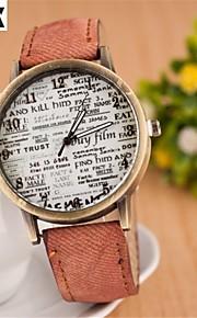 relógio carta moda colar de quartzo analógico das mulheres (cores sortidas)