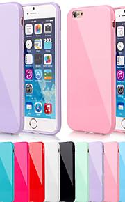 stor d kiselgel mjuk bakstycket för iphone 6 (blandade färger)