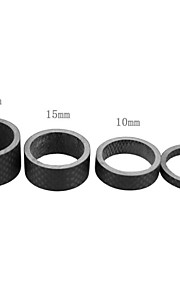 ZIQIAO Super Light Carbon Fiber Bicycle Front Fork Adjusting Ring Pad Washer - Matte Black (4PCS)