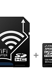 J-Like Wireless WIFI 32GB Class 10 UHS-1 MicroSDHC Memory Card with SD Adapter