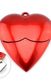 Romantyczny czerwone serce Model 2.0 Pamięć USB Flash Drive Stick 4GB pióra