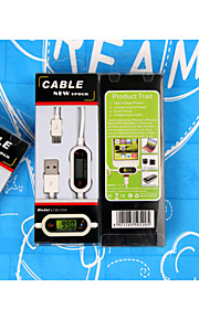 Smart data cable Current Disply Led Micro USB for mobile phone case Save Charge+Long life+protect Phone+Safer