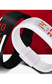 unisex levou digital da cor de doces pulseira de silicone pulseira relógio de pulso esportes