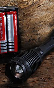 Lanternas LED / Lanternas de Mão LED 5 Modo 2200 Lumens Foco Ajustável Cree XM-L T6 18650.0 / AAACampismo / Escursão / Espeleologismo /