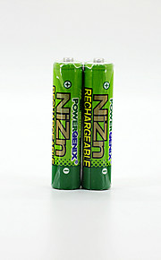 2 stuks pkcell kleurrijke 1.6v 900mAh aaa ni-zn oplaadbare batterijen