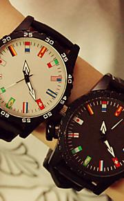 homens estudante bandeira relógio do casal colorido unisex ou mulheres assistem