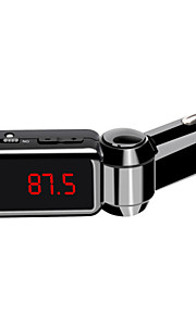 dubbele USB Bluetooth hands-free auto-oplader U schijf mp3 aux fm-zender