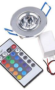 3W Taklys Innfelt retropassform 1 Høyeffekts-LED 200-250 lm RGB Fjernstyrt / Dekorativ AC 85-265 V 1 stk.