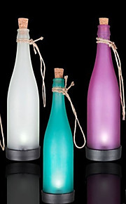 pakke med 5 solar flaske lampe ledet dekorasjon lys interspersion anheng lys flerfarget