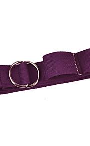 Yoga Tension Belt 183*3.8*0.2 100% Cotton Metal  Knot