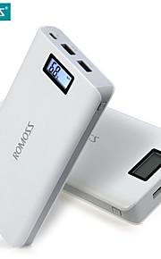 高速充電romoss意味6プラスLCD 20000mahポータブル充電器外部バッテリーパックパワーバンク