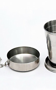 Fashion Stainless Steel Retractable Cup 60ML With Key Rings Outdoor/Camping