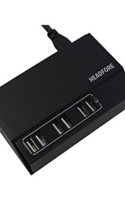 Headfore Latest Version 6 USB Ports Phone Desktop Charger For Any USB Device