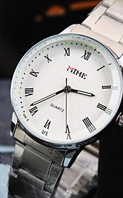 отдых женская круглый Рим набора номера шт движение из нержавеющей стали ремешок моды водонепроницаемый кварцевые часы