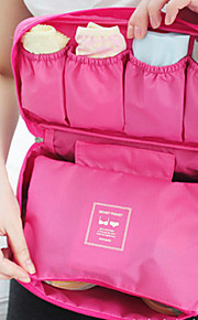 sacchetto portatile del reggiseno della biancheria intima organizzatore caso lingerie viaggi (colore casuale)