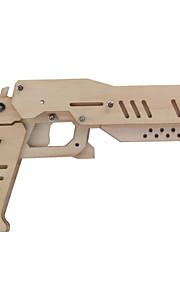 צעצוע אקדח DIY עץ גומייה