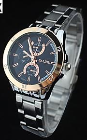 à prova de água moda relógio de pulso de quartzo analógico correia de aço dos homens (cores sortidas)