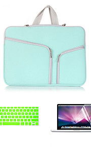 """맥북 용 키보드 FLIM 및 HD 화면 보호기 1 전신 가방에 사업 3은 15.4 """"(모듬 색상)를 프로"""