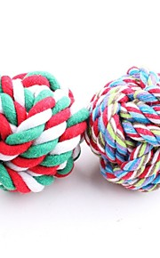Pet Cotton Rope Woven Ball (Random Color)