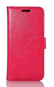 superficie de cuero de la PU + PC cubierta interna con la tarjeta de stents mala cáscara del teléfono móvil m9 htc