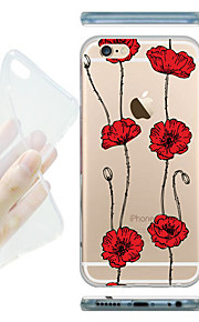 MAYCARI® The String of Flowers Transparent Soft TPU Back Case for iPhone 6