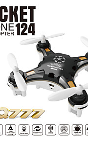 fq777-124 lomme drone 4CH 6axis gyro quadrokopter med omstillelig controller rtf