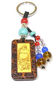 duo ji mi ® pot-bellied Maitreya palisander indlæg buksbom nøglering