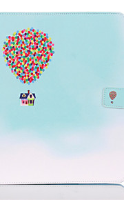 Balloon House Pattern PU Leather Full Body Case With Stand for iPad 4/iPad 3/iPad 2