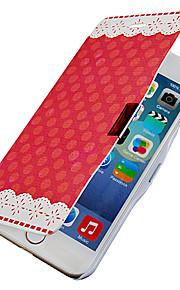 red dot mönster magnetisk flip hela kroppen fallet med hål för iphone 6 plus
