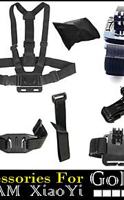 7 in 1 Chest 360 Degree Wrist Helmet Wifi Strap + J hook + Bags Accessories For Gopro Hero 1234 Xiaomi