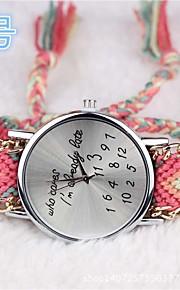 wome watchbohemia que caresletter relógio tecidos à mão