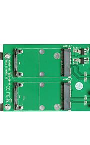 Maiwo 2xSATA TO 2xmSATA Card Interface Card KT007A