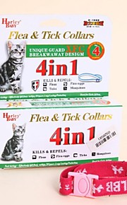 FUN OF PETS® 3 Pieces A Set Unique 4 in 1 Flea& Tick Collar for Pets Cats Ajustable Neck 16-24cm