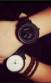 Masculino Relógio de Pulso PU Banda Preta Branco Marrom